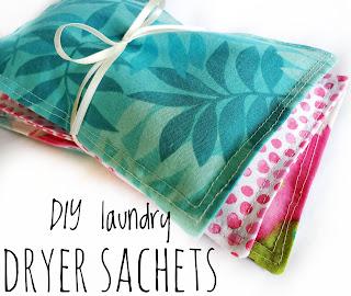 dryer sheet alternative DIY, lavender sachet tutorial by refabulous