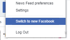 Switch to new Facebook.