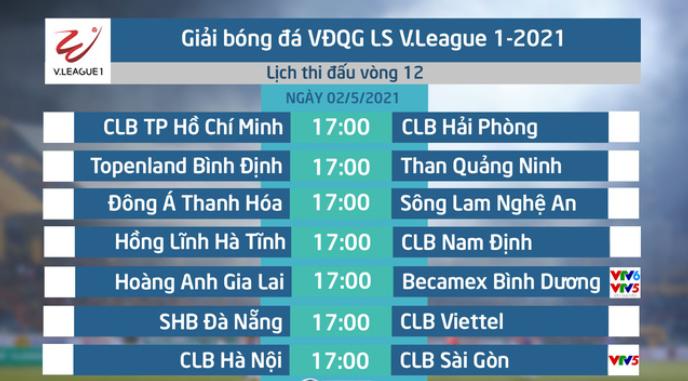 Dự đoán vòng 12 giải  V-League 2021 (diễn ra ngày 2/5) Vong12-vleague2021