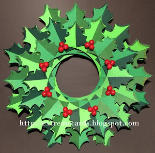holly sliceform wreath torus