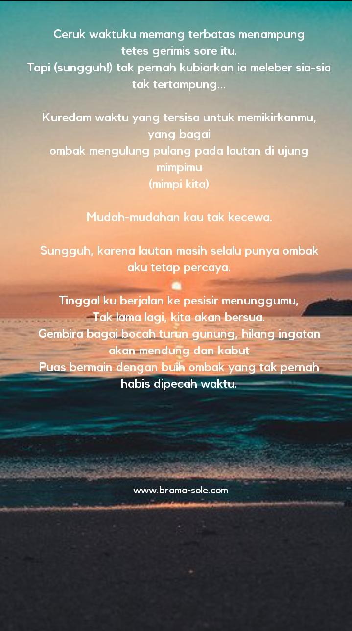 Menunggumu Di Pesisir Pantai, Puisi Oleh : Nia Nurdiansyah.