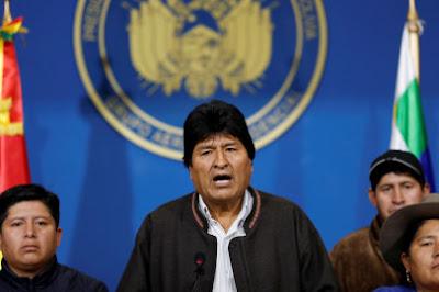 Presiden Bolivia Evo Morales Mundur atas Tekanan Militer