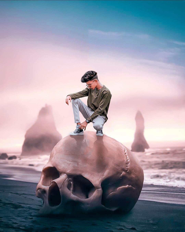Snapseed skeleton photo editing