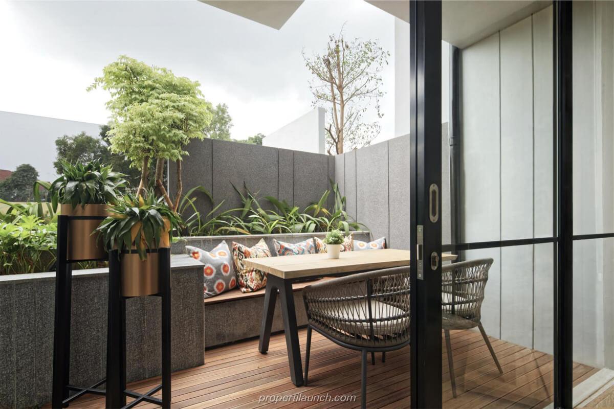 Interior Design Rumah Rolling Hills Karawang Tipe 1A Backyard