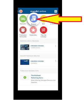 Pembayaran UKOM Retaker Online Menggunakan Mobile Banking Mandiri