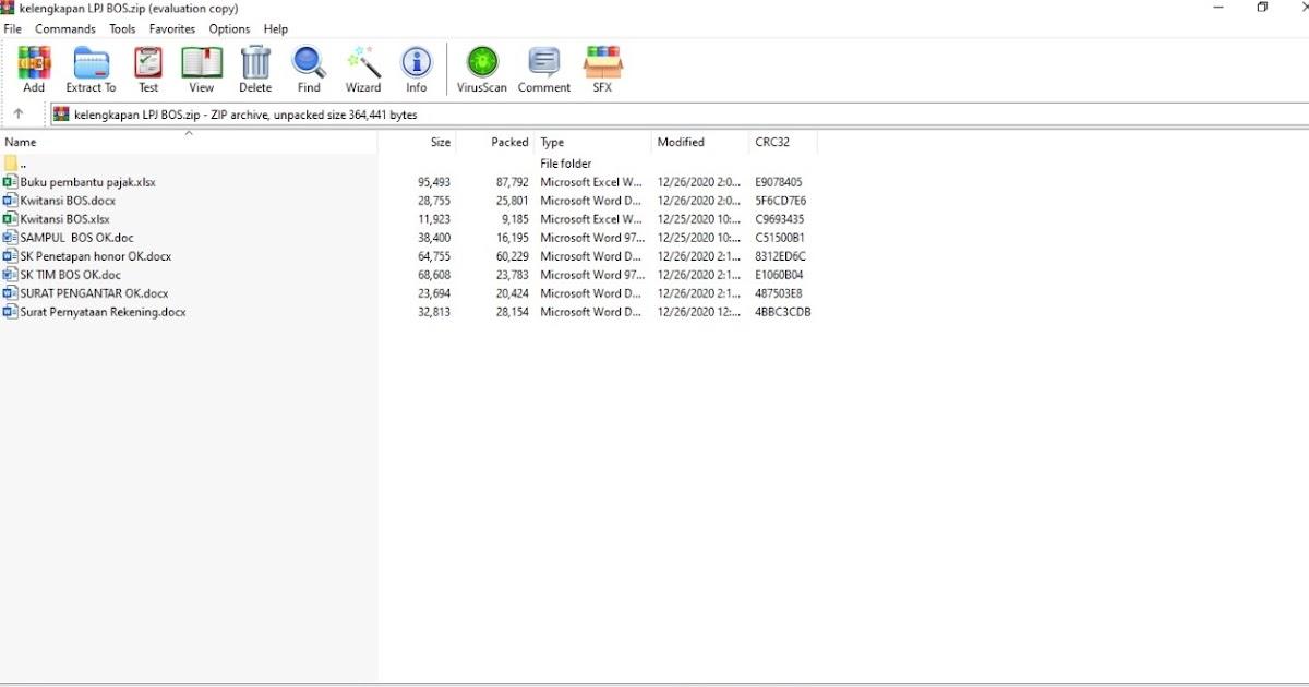 Contoh File Kelengkapan Lpj Bos Ba Bun Tahun Anggaran 2020 Admin Bawean