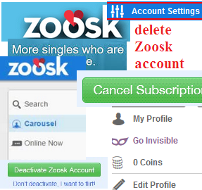 How to delete your profile on zoosk