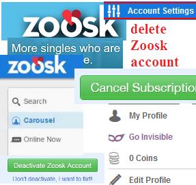 Zoosk account settings