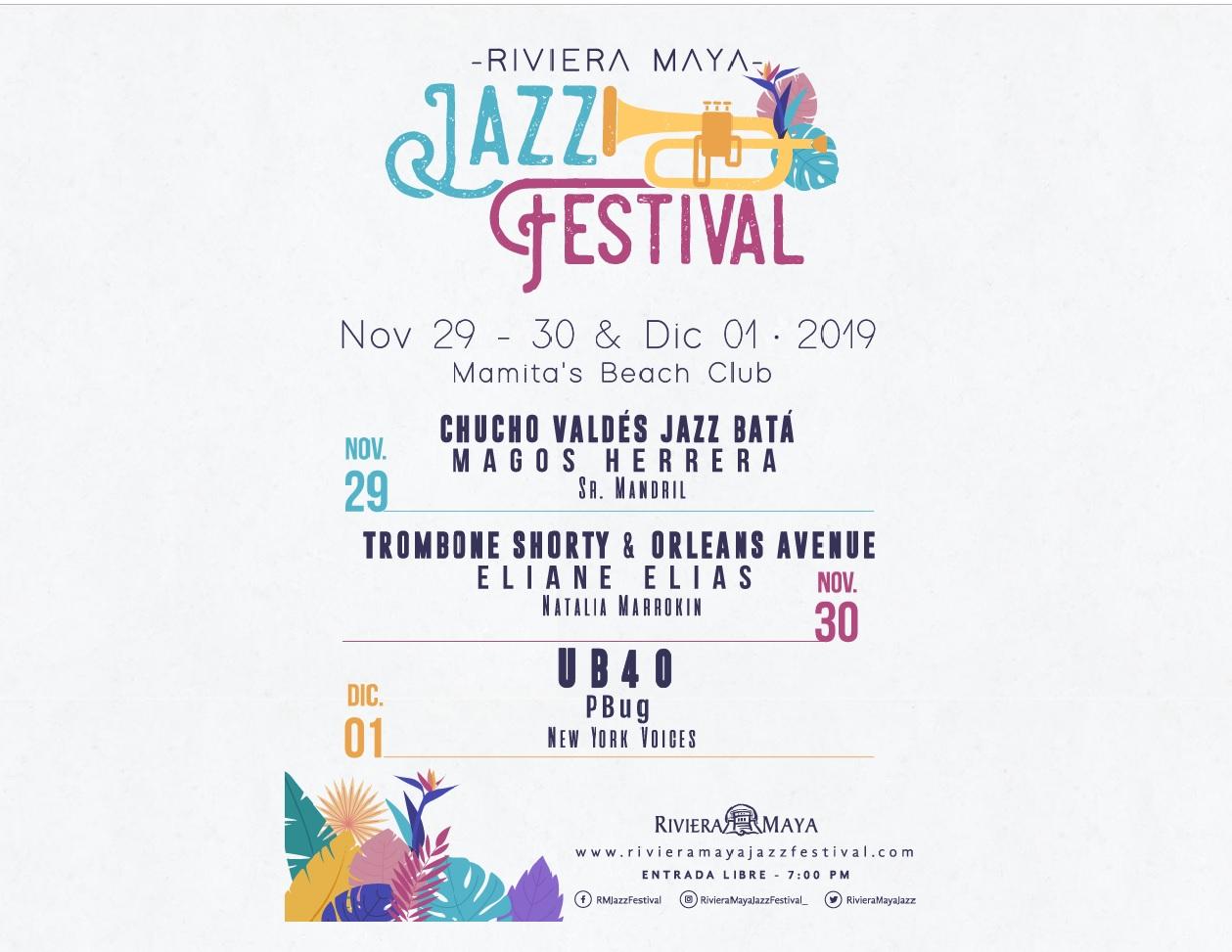 FESTIVAL JAZZ RIVIERA MAYA REFERENTE MUNDIAL 2