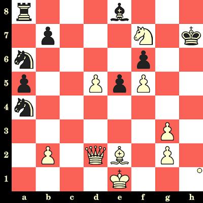 Les Blancs jouent et matent en 4 coups - Vlastimil Hort vs Ralf Schoene, Bad Neuenahr, 1991