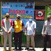 Kades Safri Menerima Kunjungan Wakapolsek Marbo dan Personil di Balla Ewako Pencegahan Penularan Covid 19 di Desa Pattopkang