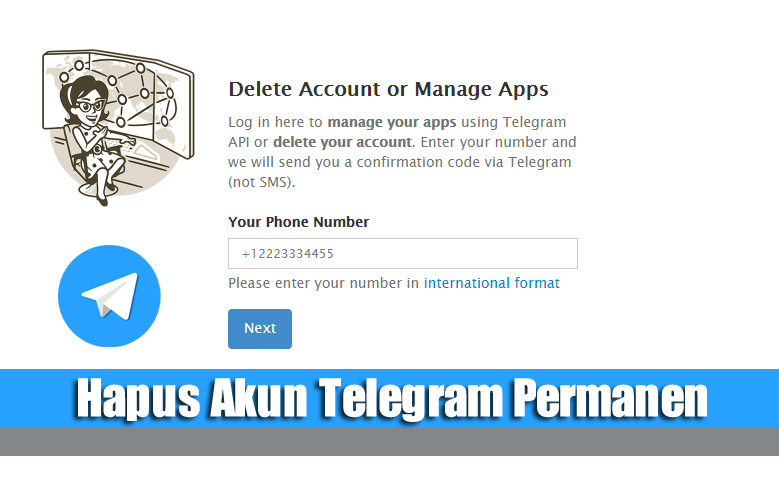 Hapus Akun Telegram Permanen