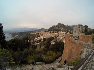 Teatr Grecki Taormina Sycylia zima