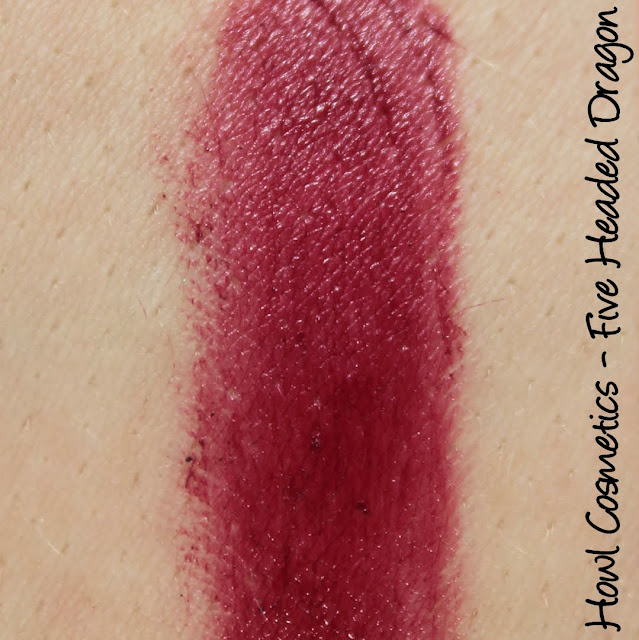 Howl Cosmetics Five-Headed Dragon Lipstick Swatches & Review