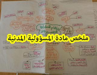 تحميل pdf : ملخص مادة المسؤولية المدنية