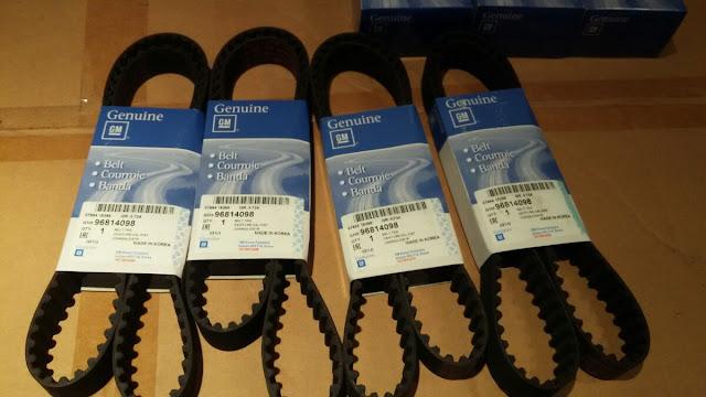 Bộ dây đai Cam xe Lacetti 1.6 liên doanh chính hãng GM
