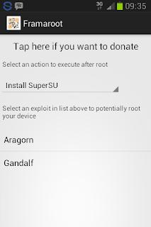 Rooting android 4.2 dengan framaroot