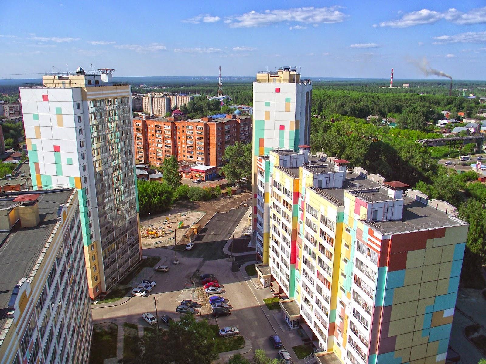 Томск с высоты с крыш