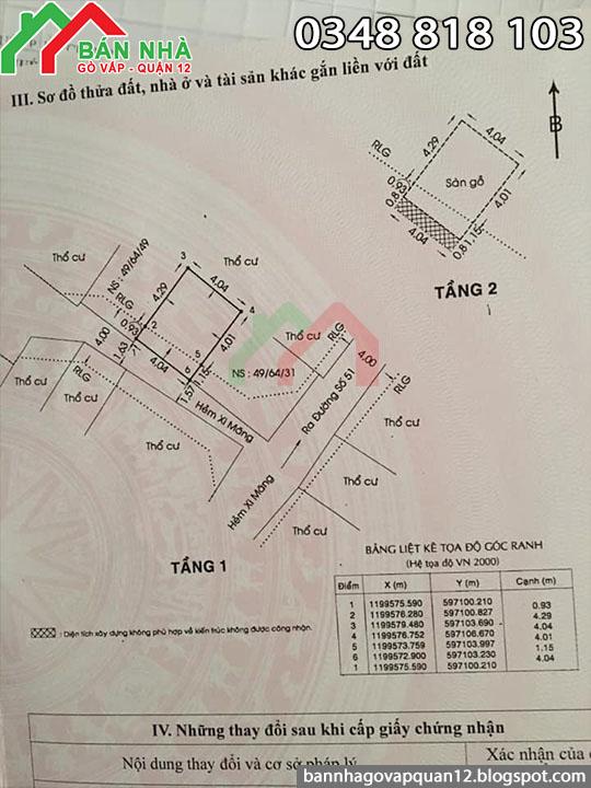Nhà đường số 51 phường 14 Gò Vấp