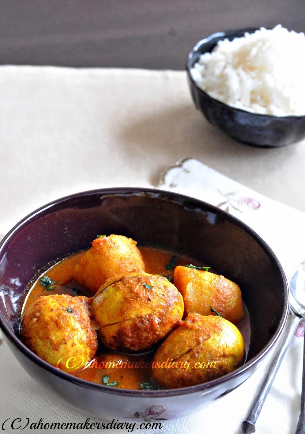 A Homemaker's Diary: Dimer Dalna/Jhol (Bengali style Egg