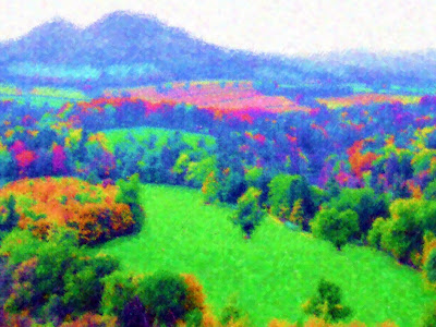 Digitally manipulated image of Scott's View, Scottish Borders
