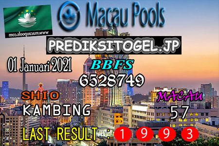 Prediksi Togel Wangsit Macau Pools Jumat 01 Januari 2021