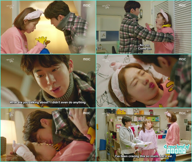 joon hyung wanted to see the stuff but end up getting on bok joo they are about to kiss - Weightlifting Fairy Kim Bok Joo: Episode 14