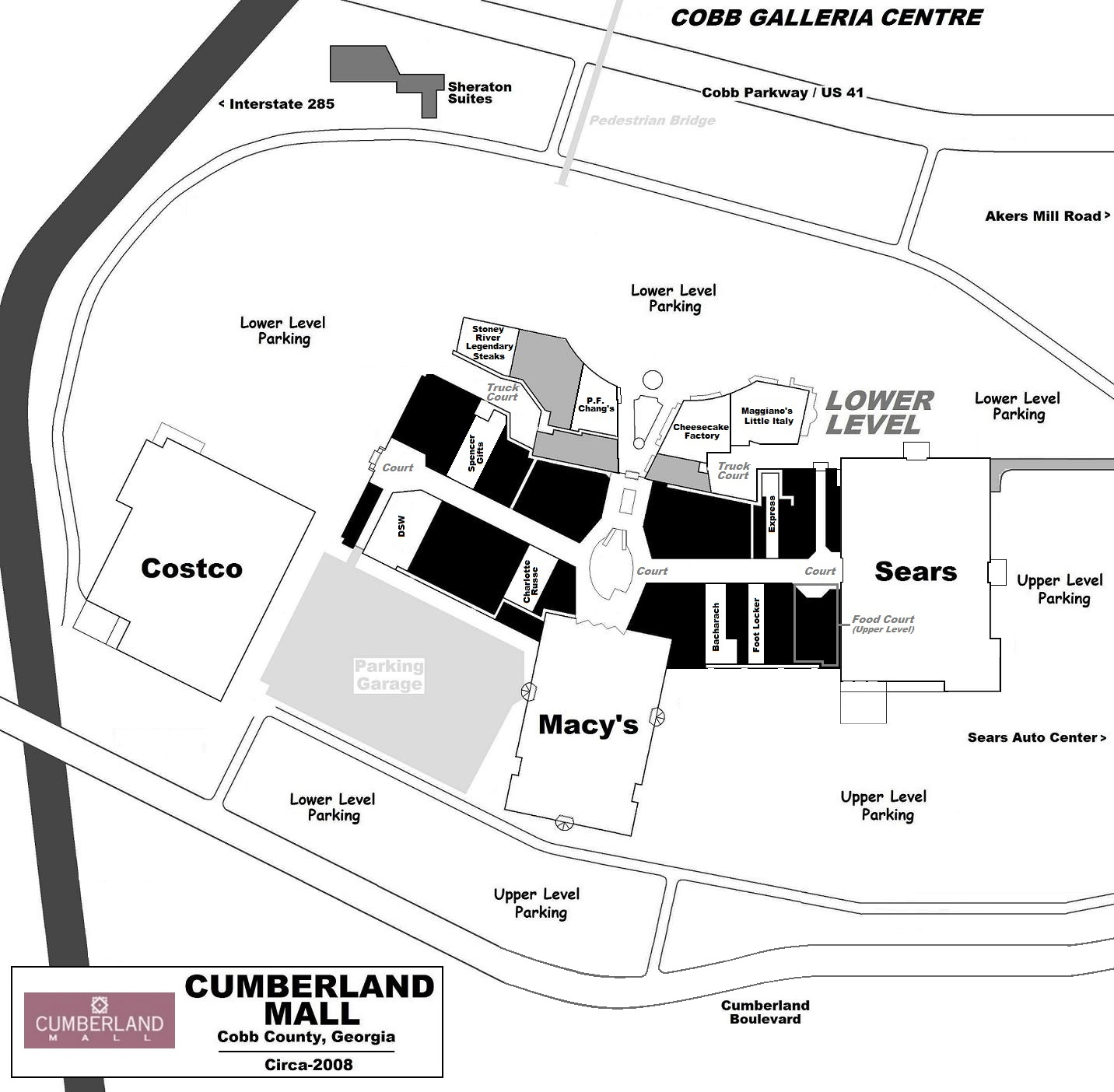 an early 2000s vintage site plan of cobb county s cumberland as one can see the penney s and davison s anchors have been surgically removed and replaced