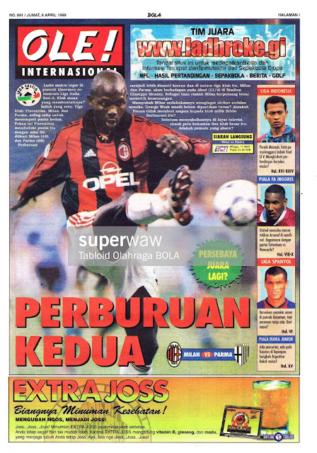 WEAH OF AC MILAN VS PARMA SERI A 1999