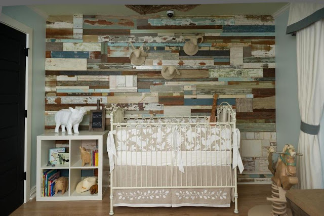 reclaimed wooden wall decor rustic baby nursery designs storage unit with cabinet