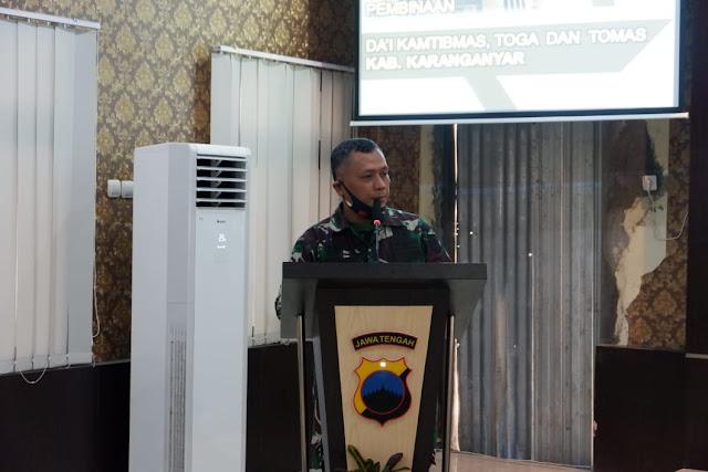 Mayor Inf Suwarko Ajak DA'I Kamtibmas Beserta Tokoh Agama Dan Tokoh Masyarakat Menciptakan Kondusifitas Kamtibmas Kabupaten Karanganyar