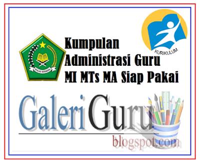perangkat administrasi guru mi, mts, ma kurikulum 2013 | Guru Matpel