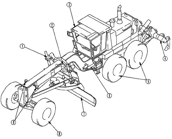 Bagian-bagian Motor Grader