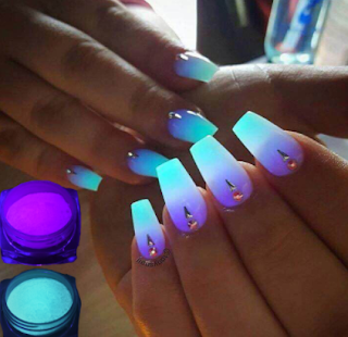 manicure fluorescente