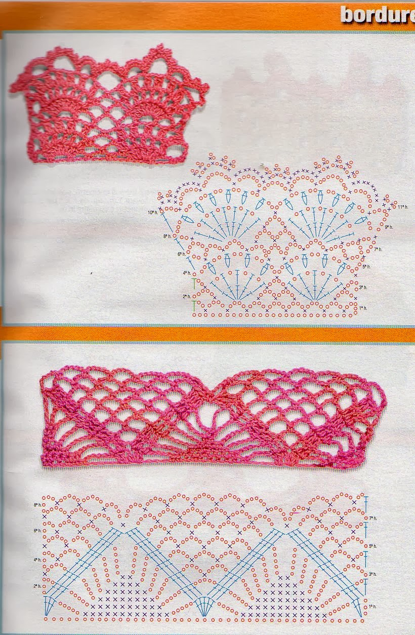 Lo spazio di lilla bordure all 39 uncinetto crochet hems for Bordure all uncinetto schemi