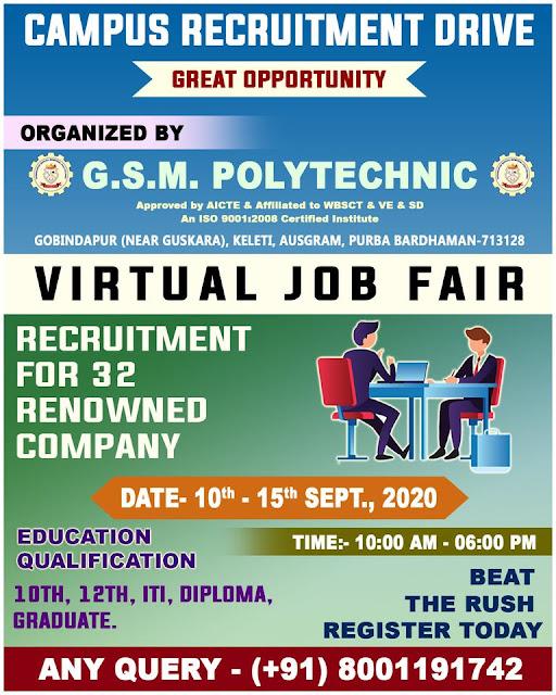 Online Digital Job Fair  For 10th,12th, ITI,Diploma B. Tech, & Any Graduate Registration Now