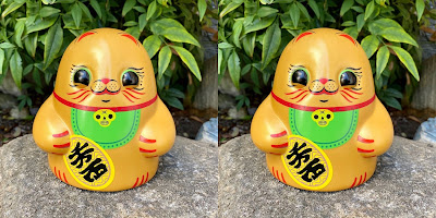San Diego Comic-Con 2020 Exclusive Gold Maneki Neko Tiny Ghost Vinyl Figure by Reis O'Brien x Bimtoy x Fugitive Toys