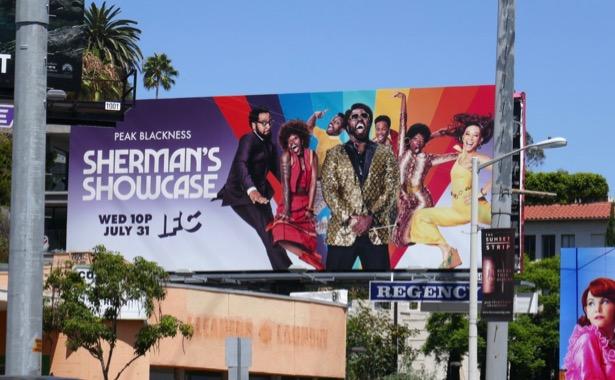 Shermans Showcase series premiere billboard