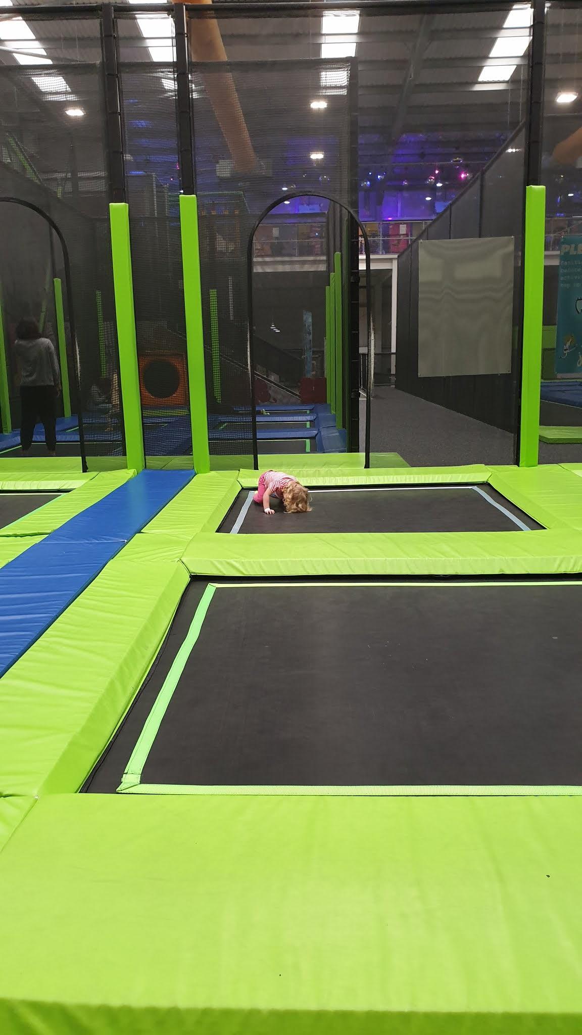 dodge ball area of trampoline park