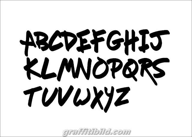 Graffiti tags names, graffiti fonts letters a-z