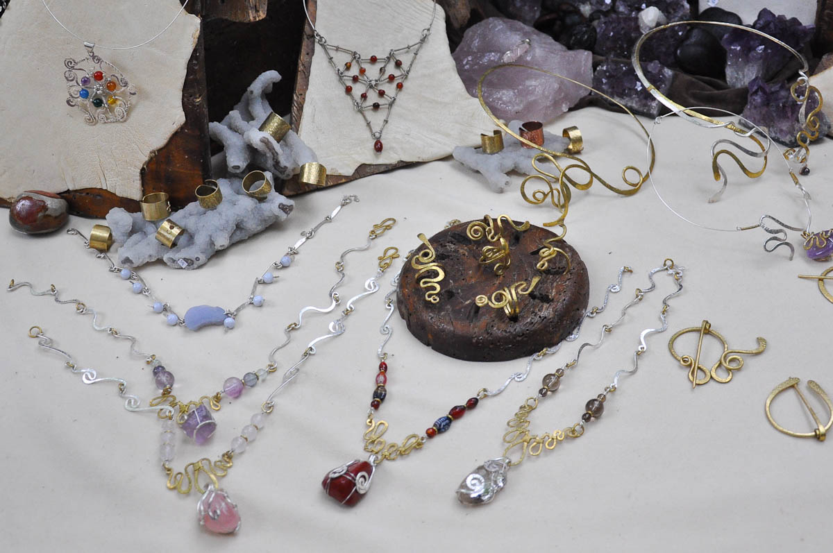 Handmade jewellery stall, Romeo and Juliet Festival - Faida, Montecchio Maggiore, Veneto, Italy
