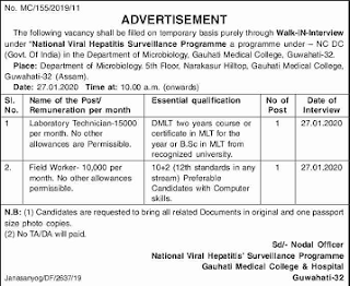 National viral hepatitis surveillance programme recruitment 2020