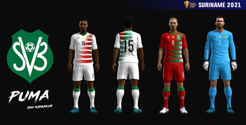 Suriname 2021 Kits For PES 2013