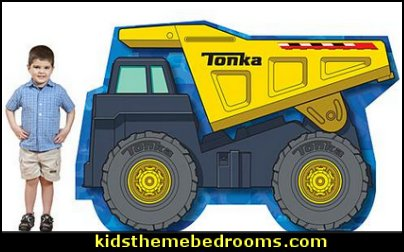 Tonka Yellow Dump Truck Standee  Construction party ideas - construction party decorations - digger construction party props - Dump Truck Party Decorations - crane construction theme party - work truck decorations - Digger Zone Boys Birthday Party -