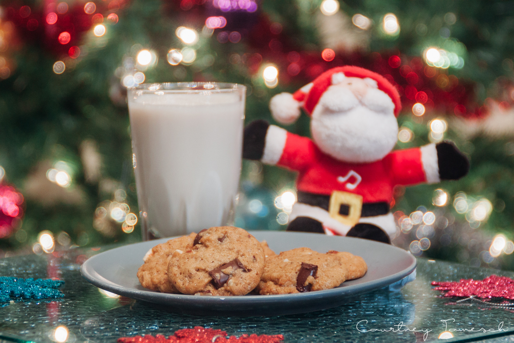 Courtney Tomesch Vegan Holiday Treats Chocolate Chip with Hazelnuts Cookies