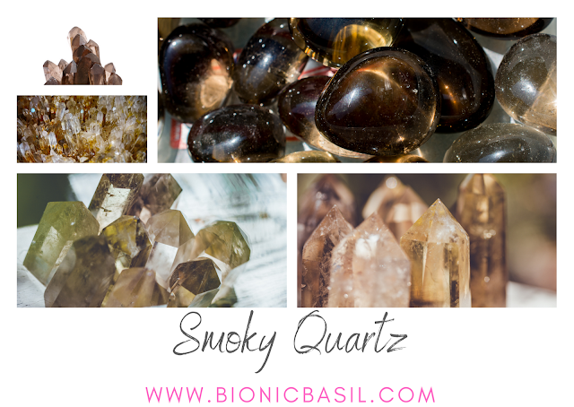 Colouring with Cats #115 ©BionicBasil® Crystal of The Week - Smoky Quartz