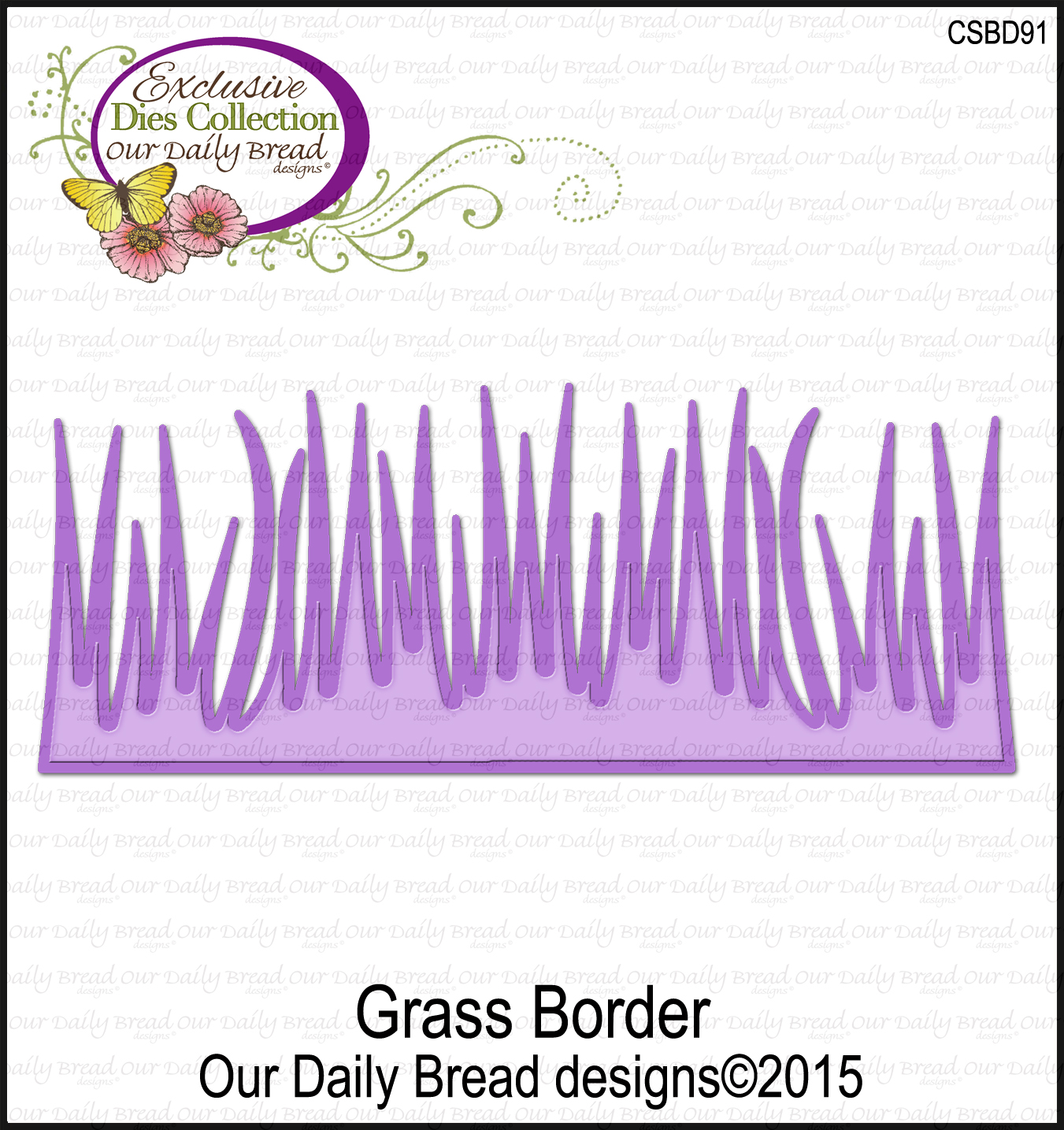 Our Daily Bread Designs Custom Grass Border Die