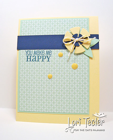 You Make Me Happy card-designed by Lori Tecler/Inking Aloud-stamps and dies from The Cat's Pajamas