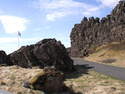 Gorge at Thingvellir. Photo by Michael Ridpath, author of the Magnus series of crime novels.