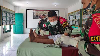 Yonif 742/SWY Gelar Donor Darah Dan Sunatan Massal di Perbatasan RI-RDTL